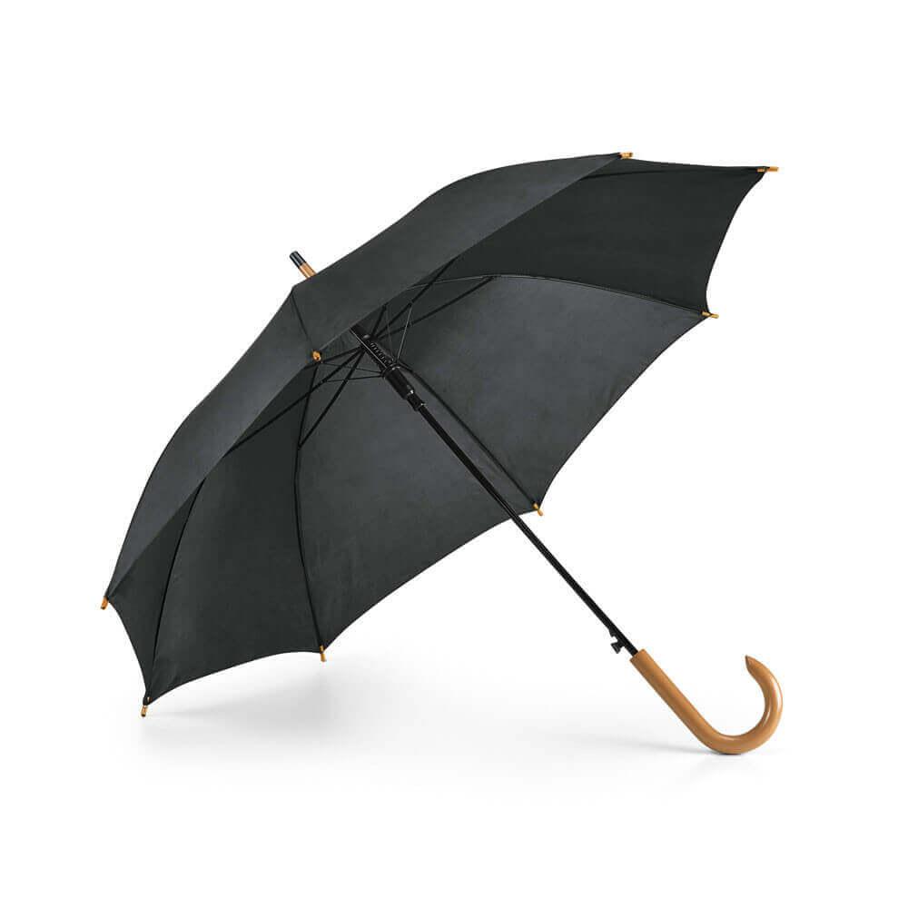 Umbrella. 190T polyester. Wooden