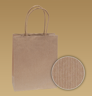Hnedé tašky s krúteným uchom z prúžkovaného papiera