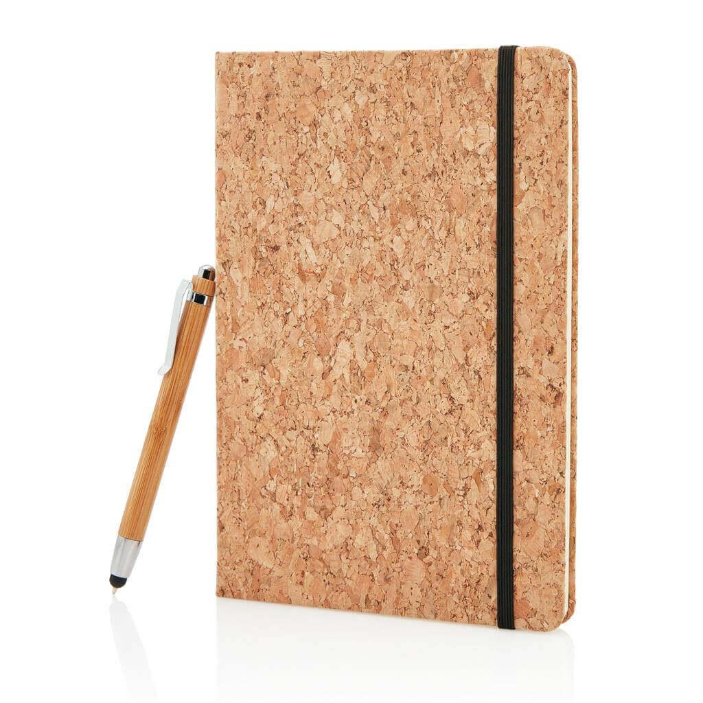 Poznámkový blok A5 sbambusovým perom so stylusom